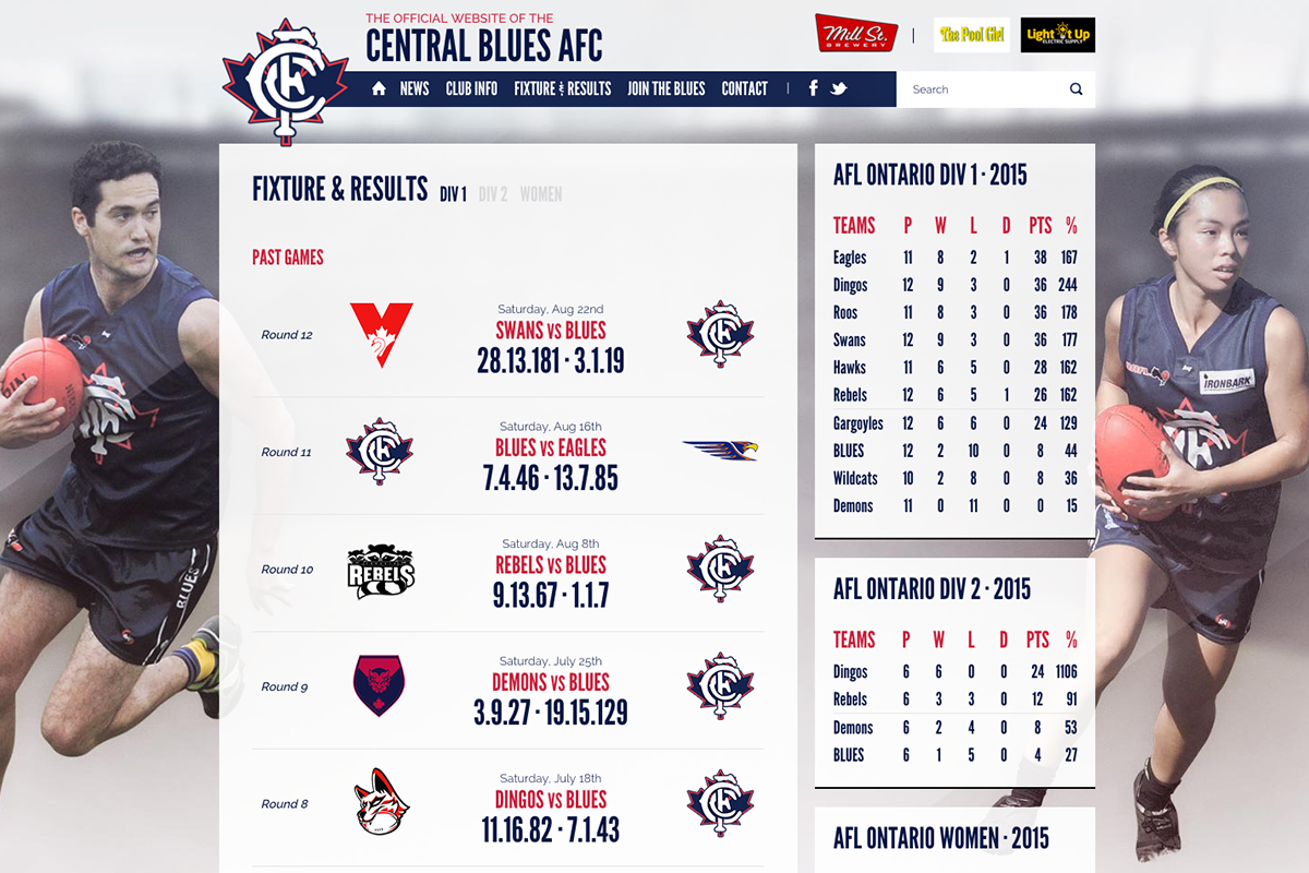 Central Blues - Fixture & Results